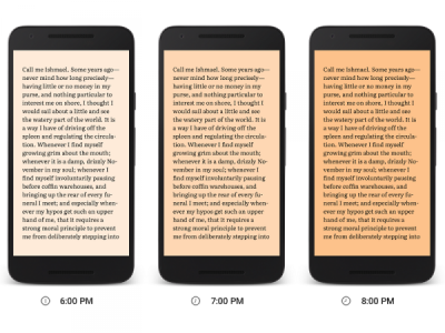 google-play-books-night-light-mode-progression